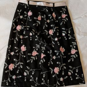 BMOSS TAILOR lined floral skirt